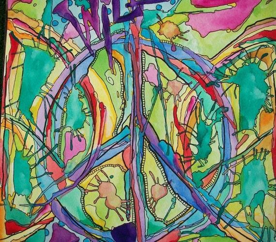 Wild Love, Singleton Hippie Art, The Original
