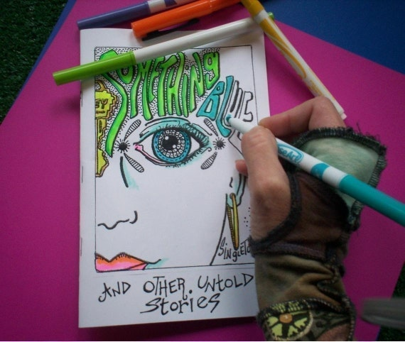 Coloring Book Zine : Hippie Coloring Book Zine Singleton Something by justgivemepeace