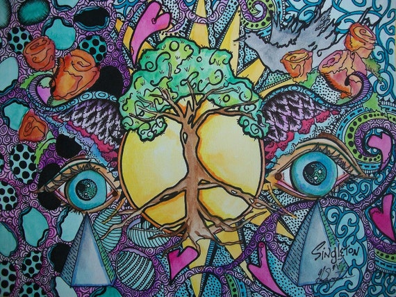 The Psychedelic Forest, Singleton and Son, Hippie Art, The Original