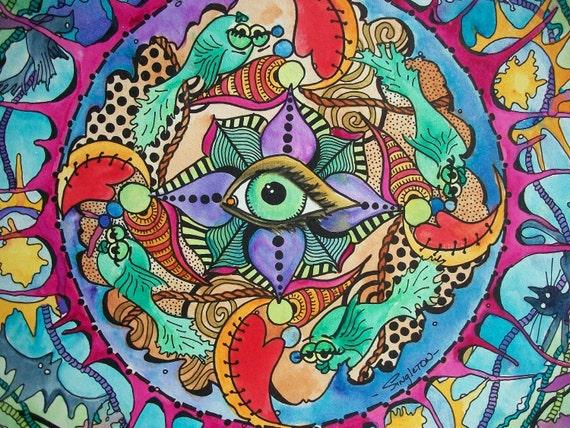 The Psychedelic Promise, Singleton Hippie Art Original