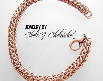 Copper full persian chainmaille bracelet