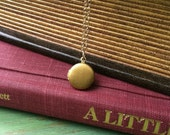 Itsy Bitsy Vintage Locket - 14k gold filled chain, vintage locket