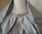 Renaissance Cloaks  Grey Embroidery on Wool