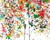 Redbud Tree, ACEO print