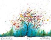 NEW, Edwards Tree, ACEO Trading Card, PRINT 2.5 x 3.5 inches