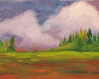 Southern Landscape, ORIGINAL Oil, 12 x 30, was 200 dollars