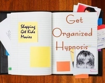Get Organized Hypnosis CD or mp3 Download