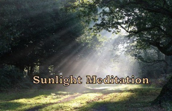 Sunlight Meditation 15 Minutes to Serenity CD or mp3 Download Learn to Meditate, Relaxation,  New Age
