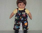 American Girl Bitty Baby Twin Boy Overalls and Tee Shirt