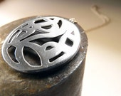 Drawnwork pendant - Sterling silver