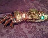 RESERVED - Steampunk Robot Arm - Handmade  Unique Gauntlet