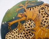 Sea Dragon Gourd Vase OOAK
