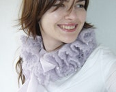 Shades of Sea Mohair Scarflette in Pale purple - RESERVED for lamiscelanea