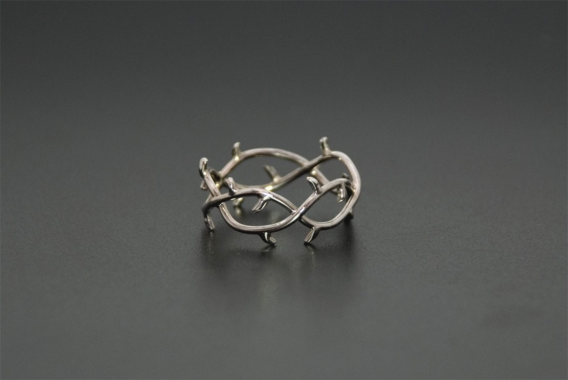 Crown Of Thorns Ring 14k White Gold