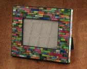 Photo Frame  Handmade Paper Striped 5x7