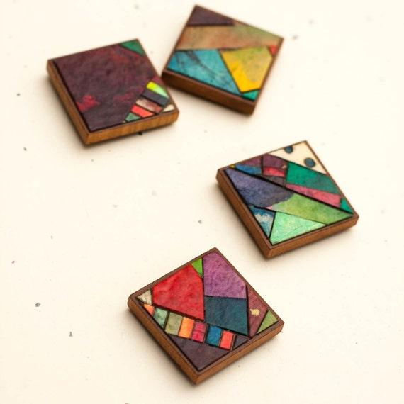Magnets Handmade Paper Mosaic c