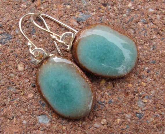 Special listing for Ellen sweetest peacock blue-green ovals on sterling ear wires