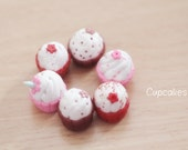 Head magnetic parts - red cupcake (top flower)  1:6 scale for yosd/tiny bjds