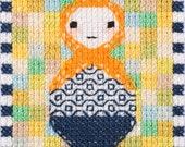 SALE Cross Stitch Kit - Russian Doll - Spring