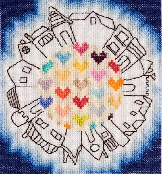 Round the World Cross Stitch Pattern