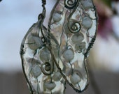 Unique Wire Wrapped Dragonfly Wings Earrings