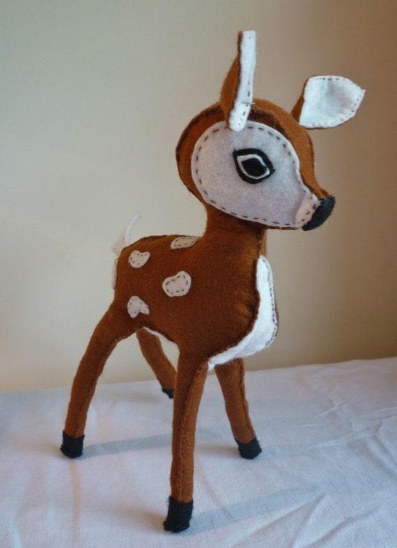 SALE-  Dear Felt Hand Stitched Bambi