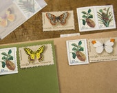 vintage postage - butterflys and bugs