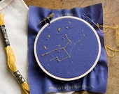 Zodiac Embroidery Kit - diy constellation embroidery kit