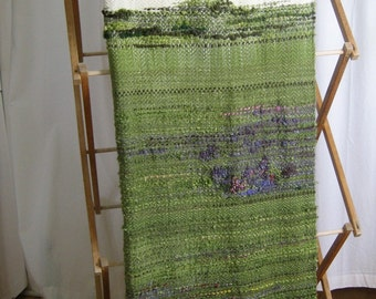 Woven Merino Wool Blanket, Hand-dyed with Lupin Landscape