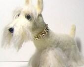 Scottish Terrier Scottie dog needle felted - Pet portrait soft sculpture custom order