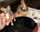 Custom Dog Portrait pet Memorials needle felted wool sculptures miniature