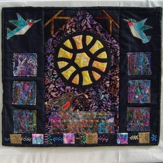 Quilted Wallhanging Hummingbird Spirit Art original