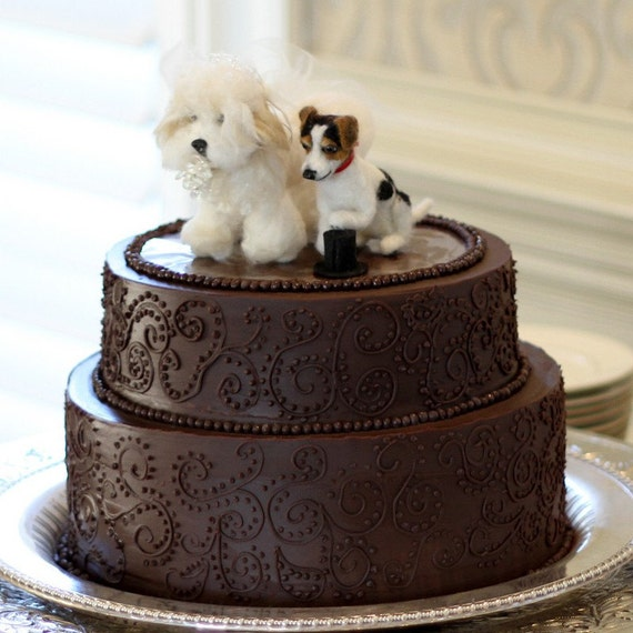personalized wedding cake topper with dog custom wedding cake toppers dogs needle felted pets 18289