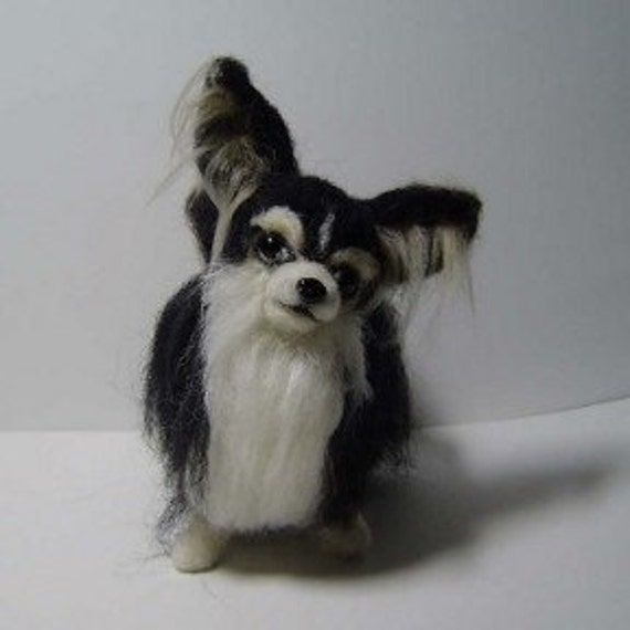 Custom Dog needle felted Chihuahua soft sculpture animal art pet portrait