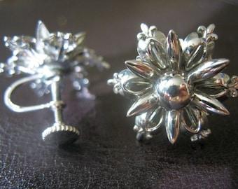 Vintage Snowflake Christmas Earrings