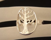 Sterling silver Tree of Life Ring - back by popular demand