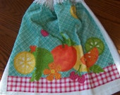 Summer Fruit Crocheted Kitchen Towel