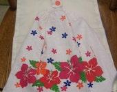 Hibiscus Flowers Crochet Top Kitchen or Bathroom Towel