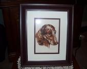 Machine Embroidered Dachshund Dog Picture