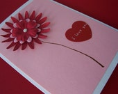 I Love You Red Dahlia card