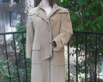 Vintage Valentino Corduroy Rain Coat, Designer Coat, All Weather Coat, Valentino,  size 8