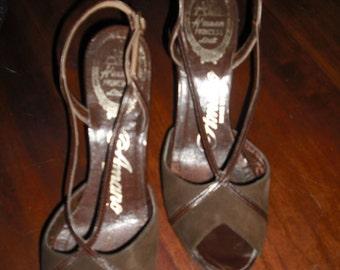 Vintage 40s Peeptoe Heels
