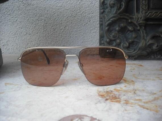 1970s/80s Vintage Men's Aviator Glasses/Frames/Sunglasses