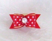 """5/8"""" Polka Dot Minnie Mouse inspired Bow"""