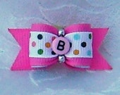 DOG BOW-  5/8 Initial Puppy Bow