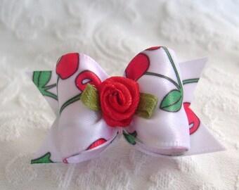 7\/8 Cherry Blossom Dog bow