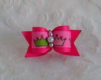5/8 Pink Princess Bow