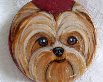 Custom Hand Painted Pet Portrait Magnet