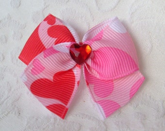 Camouflage Hearts Sweetheart Dog Bow