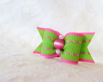 "5/8"" Dog Bow- Limeade Dog Bow"